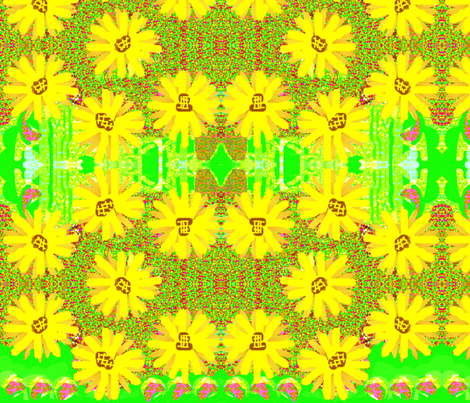 Field of Daisies fabric by robin_rice on Spoonflower - custom fabric