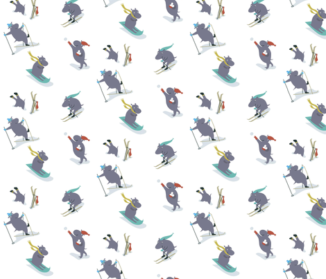 hippos_on_ice fabric by antoniamanda on Spoonflower - custom fabric