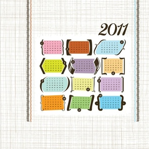 Parenthesis & Brackets / 2011 Tea Towel Calendar