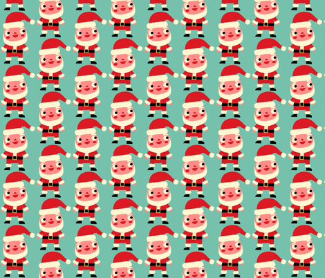 santa fabric by heidikenney on Spoonflower - custom fabric