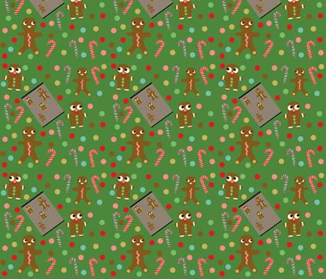 gingerbread fabric by heidikenney on Spoonflower - custom fabric