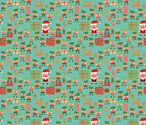 Santa's Workshop fabric by heidikenney on Spoonflower - custom fabric