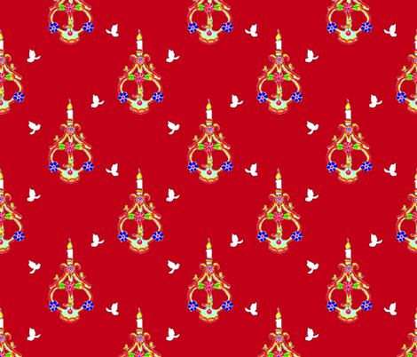 Light_up_the_Darkness_red fabric by bee&lotus on Spoonflower - custom fabric