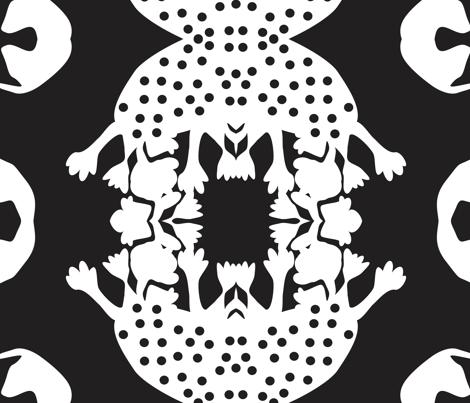 Bram in Black fabric by dolphinandcondor on Spoonflower - custom fabric