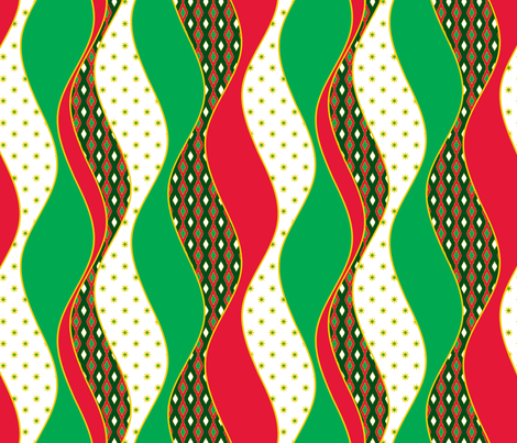 Twisted Stocking - Jingle fabric by inscribed_here on Spoonflower - custom fabric