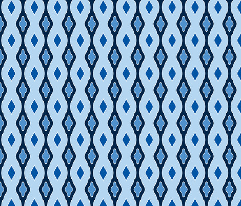 Stocking Stitch - Winter Blues b fabric by inscribed_here on Spoonflower - custom fabric