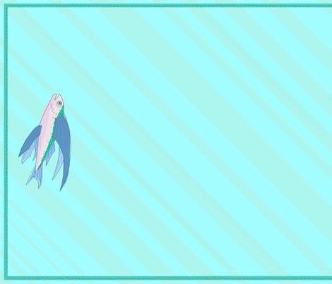 flying fish towel fabric by lemonadefish on Spoonflower - custom fabric