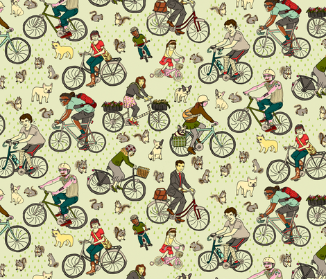 American Bikes fabric by 1stpancake on Spoonflower - custom fabric