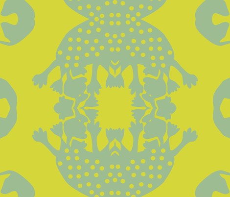 Bram in Lime fabric by dolphinandcondor on Spoonflower - custom fabric