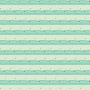 blue stripes and orange pokes