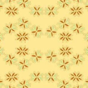 flowery chain on creamy yellow