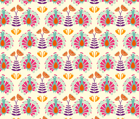 Martha white fabric by hamburgerliebe on Spoonflower - custom fabric