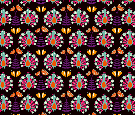 Martha black fabric by hamburgerliebe on Spoonflower - custom fabric