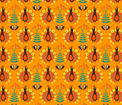 Martha orange fabric by hamburgerliebe on Spoonflower - custom fabric