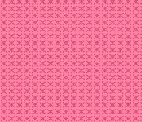 skulls - pink fabric by iamnotadoll on Spoonflower - custom fabric