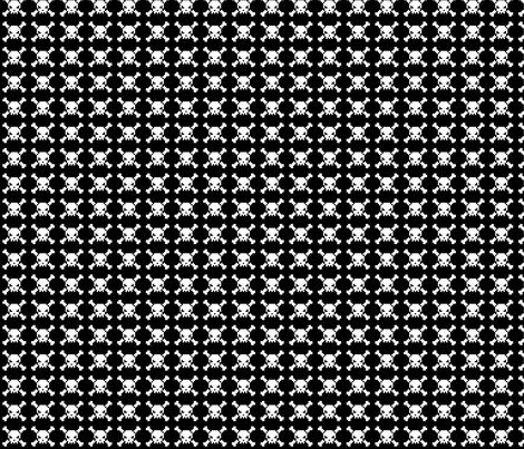 skulls - white on black fabric by iamnotadoll on Spoonflower - custom fabric