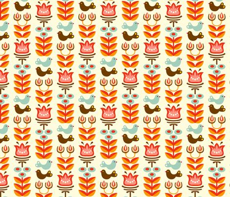 Helga white fabric by hamburgerliebe on Spoonflower - custom fabric