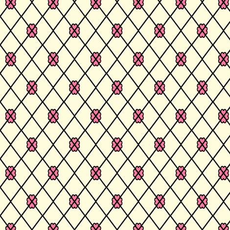 Net-Stocking Hearts - cream  fabric by rhondadesigns on Spoonflower - custom fabric