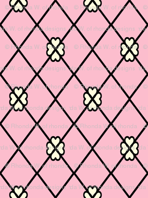 Net-Stocking Hearts - pink