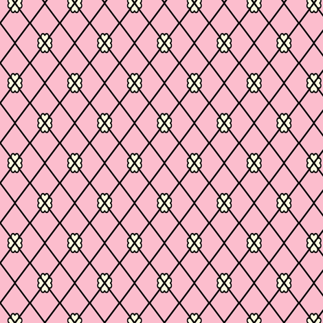 Net-Stocking Hearts - pink  fabric by rhondadesigns on Spoonflower - custom fabric