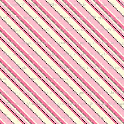 Heart's Companion - Blush Pink  Diagonal Stripes
