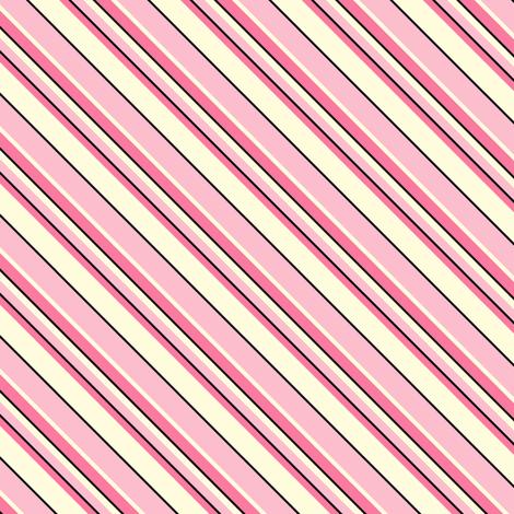 Heart's Companion - Blush Pink  Diagonal Stripes fabric by rhondadesigns on Spoonflower - custom fabric