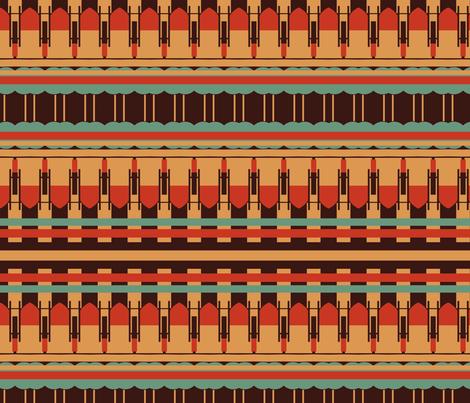 Art Deco Southwest Stripes fabric by boris_thumbkin on Spoonflower - custom fabric