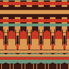Art Deco Southwest Stripes