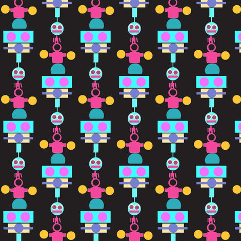 Robots fabric by boris_thumbkin on Spoonflower - custom fabric