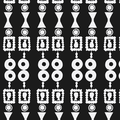 Cameo Stamp Totems fabric by boris_thumbkin on Spoonflower - custom fabric