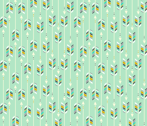 Large Arrows: Wintergreen fabric by nadiahassan on Spoonflower - custom fabric