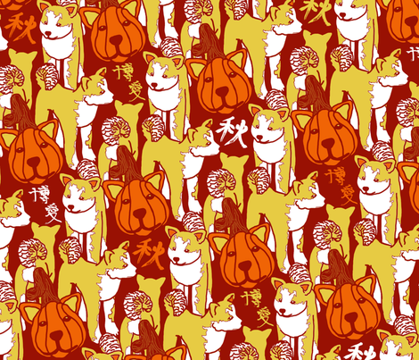 Aki (Big) fabric by hakuai on Spoonflower - custom fabric
