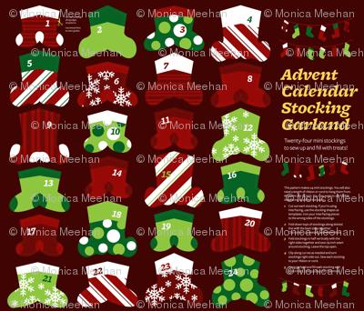 Advent Calendar Mini Stocking Garland