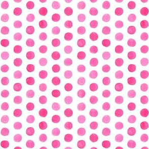 Small Watercolor Dots: Hot Pink