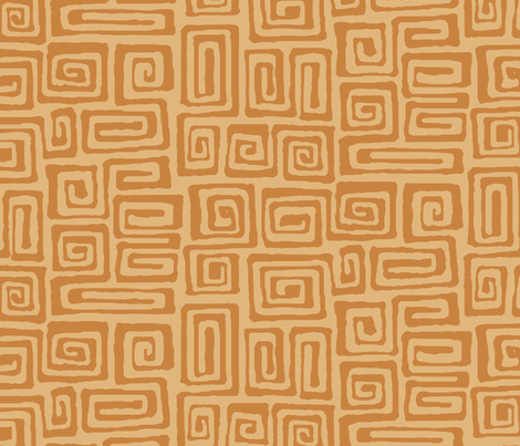 square spiral - cinnamon fabric by monmeehan on Spoonflower - custom fabric