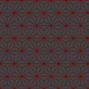 Star Grid Red and Grey