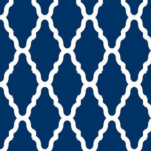 Sea Blue Lattice 1