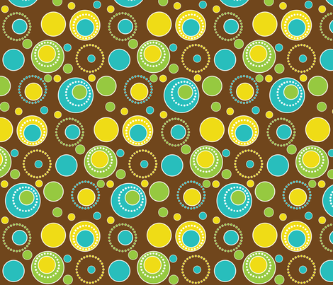 circles fabric by printablecrush on Spoonflower - custom fabric