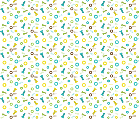 Nuts_and_Bolts fabric by printablecrush on Spoonflower - custom fabric