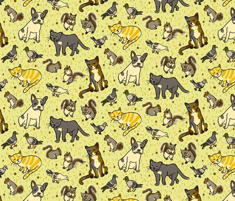 Urban Animals fabric by 1stpancake on Spoonflower - custom fabric