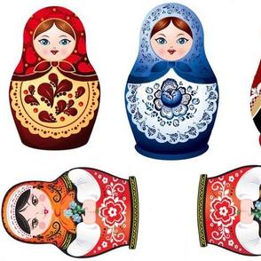 Nesting dolls matryoshka