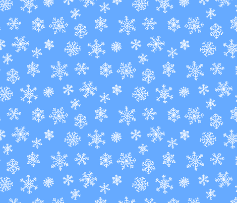 snowflakes_1_repeat fabric by victorialasher on Spoonflower - custom fabric