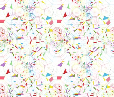 Origami Rainbow Segments fabric by candyjoyce on Spoonflower - custom fabric