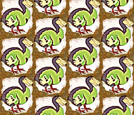 Happy Birthday, Mr. Dodo! fabric by robin_rice on Spoonflower - custom fabric