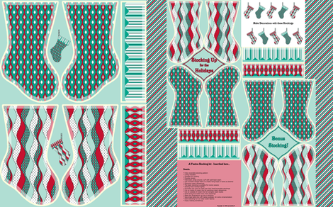 Stocking Up for the Holidays  fabric by inscribed_here on Spoonflower - custom fabric