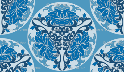 Chinese floral in blue