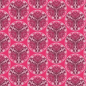 Chinese floral in pink
