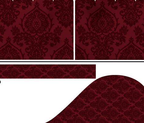 Prancer Christmas Stocking pattern fabric by kamiekazee on Spoonflower - custom fabric