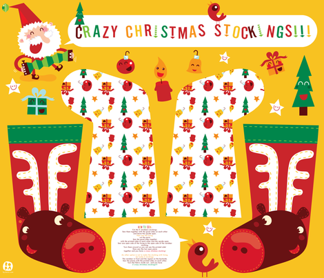 Crazy Christmas Stockings! fabric by bora on Spoonflower - custom fabric