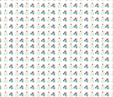 Baby with Blocks fabric by beii on Spoonflower - custom fabric